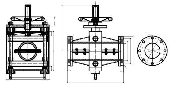 LAD-GJ41X管夹阀新型结构示意图