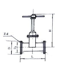 手动矿浆阀结构示意图